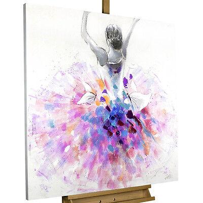 Canvas Print Abstract Watercolor Nursery Decor Wall Art Ballerina Girl