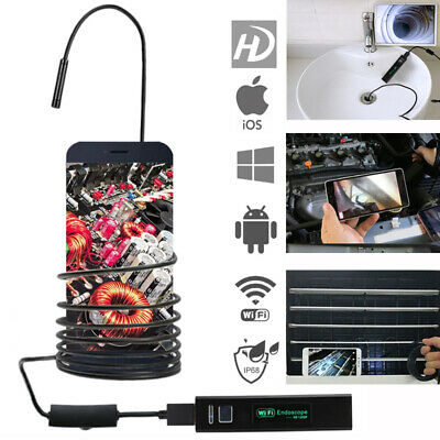 5m 8led Wifi Borescope Endoscope Snake Inspection Camera For Iphone Android