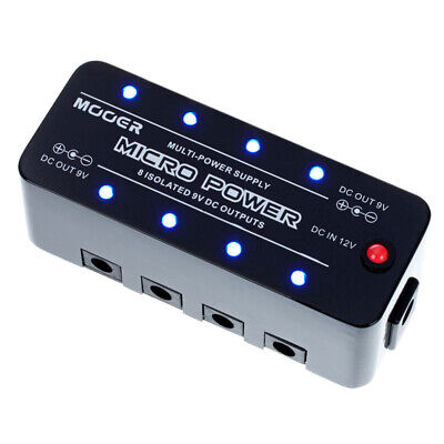 Mooer Micro Power Guitar Effect Pedal Power Supply 8 Port Isolated 9V Output UK