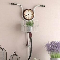 Farmhouse Wall Decor Bicycle Clock Rustic Country Bike Unique Vintage Antique RV