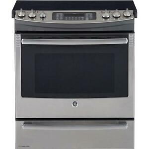 GE Profile PCS940SFSS 30 Electric Range Self Clean Convection 5 Glass Burners