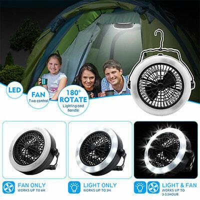 LED Zeltlampe Zelt Hänger Licht mit Lüfter Outdoor Campingleuchte Campinglampe ()