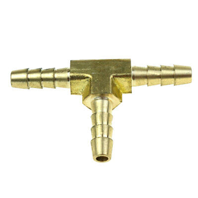 2pcs 316 Hose Barb Tee Brass Pipe 3 Way T Fitting Thread Gas Fuel Water Air