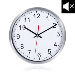 WINOMO 12 Stainless Steel Frame Atomic Analog Wall Clock with Hook Home Decor