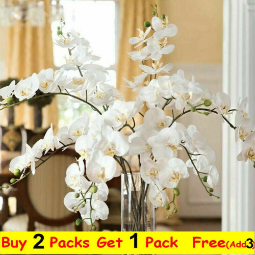 Home Decoration - Artificial Silk Butterfly Orchid Fake Plant Flower Wedding Garden Home Decor UK