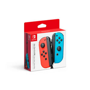 Nintendo Switch Left and Right Joy-Con Controllers - Neon Red/Ne