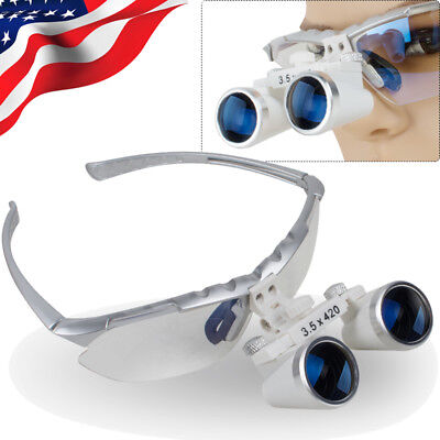 Dental Loupes Surgical Medical Binocular Magnifying Glasses 3.5x 420mm Magnifier