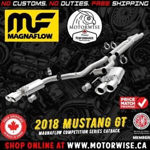 Magnaflow Competition Catback Exhaust System | 2018 Ford Mustang GT | Shop & Order Online at www.motorwise.ca
