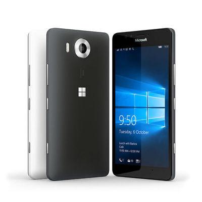 Nokia Microsoft Lumia 950  Rm 1105  32Gb At T Unlocked Smartphone Black White Us