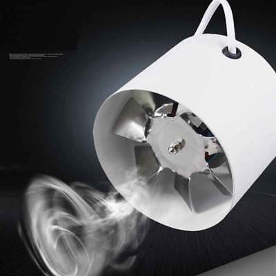 - 4'' 100mm Inline Ducting Fan Booster Air Cooling Filter Vent Exhaust Blower Fan