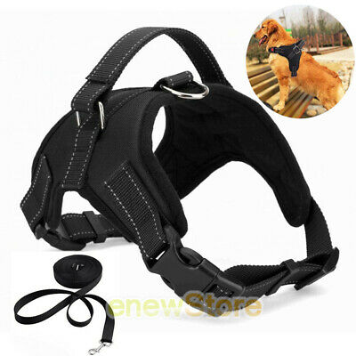 Collar Harness - Dog Pet Vest Harness Leash Collar Set No Pull Adjustable for Small/Medium/L/XL