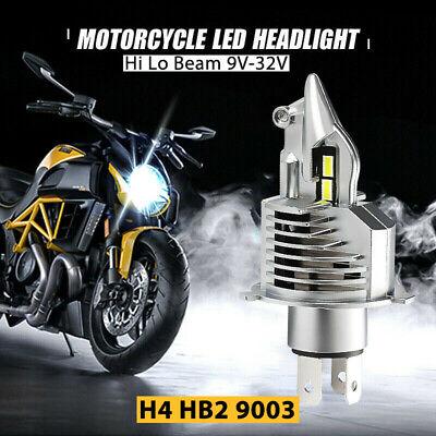 H4 LED Scheinwerfer 100W Motorrad Birne Hi Lo Fern-/ Abblendlicht Lampe 6000K DE