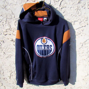 Edmonton Oilers Hoodie Reebok Face Off Collection Size Small