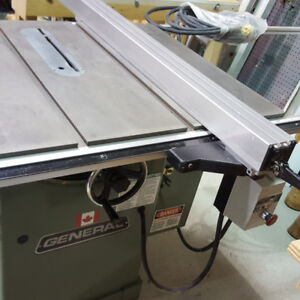 Canadien General Table saw & Jointer