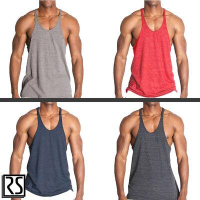 Gym Stringer Y-Back Triblend Bodybuilding Racerback Tank Top by Rockland Shirts