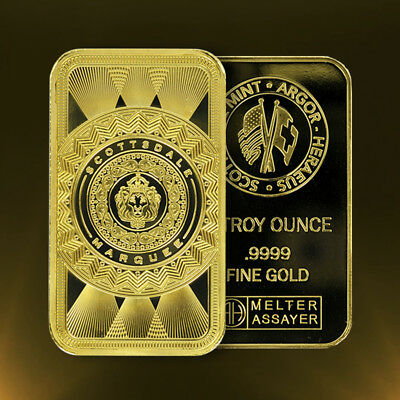 Купить 1oz .9999 Gold Bar Scottsdale Marquee in Certi-Lock #A453