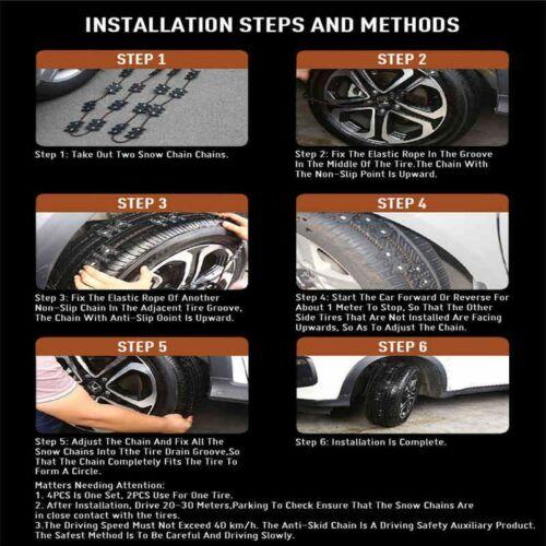 Universal Wheel Anti Skid Chains Black Wearproof Non Slip Emergency Tire Belt