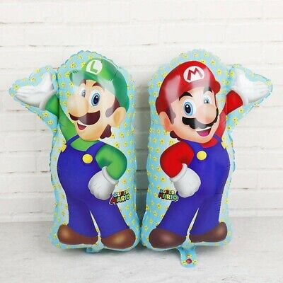 Super Mario and Luigi Brothers Balloons Birthday Party Decorations Supplies
