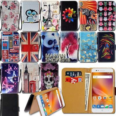 Leather Wallet Card Stand Flip Case Cover For Various ZTE Nu