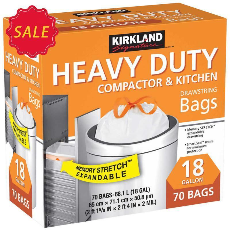 Kirkland Signature 18-Gallon Compactor & Kitchen Trash Bag,