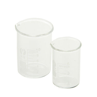 510ml Borosilicate Glass Lab Beaker Laboratory Low Form Chemistry Chemical Tool