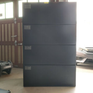 4 drawer filing cabinet with lots of room and pull handles