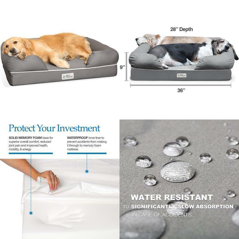 Petfusion Ultimate Dog Bed, Orthopedic Memory Foam. (Multipl