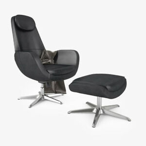 IKEA ARVIKA CHAIR AND OR OTTOMAN WANTED IN BLACK LEATHER