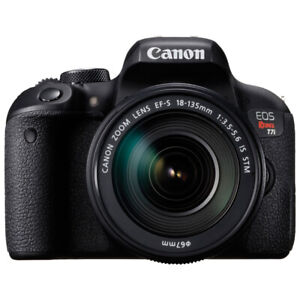 Canon EOS Rebel T7i DSLR Camera with 18-135mm lens BRAND NEW
