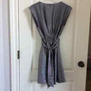 H&M Silver Dress size 4 -worn 1x at a wedding London Ontario image 2