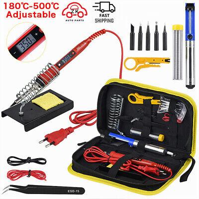 Soldering Iron Kit Adjustable Temperature 220v 80w Lcd Solder Welding Tools Kits