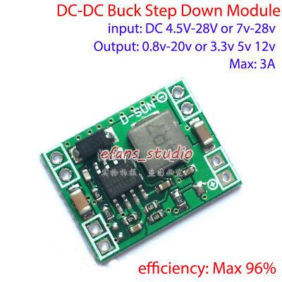 3a Mini Dc-dc Buck Step Down Voltage Converter 3.3v 5v 9v 12v 24v Volt Regulator