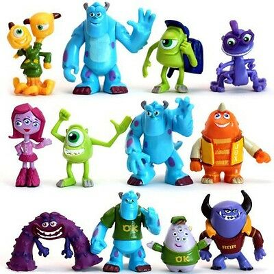 Monsters Inc Sulley Mike Disney Playset 12 Figure Cake Topper Toy Doll Set - Sulley Monsters Inc