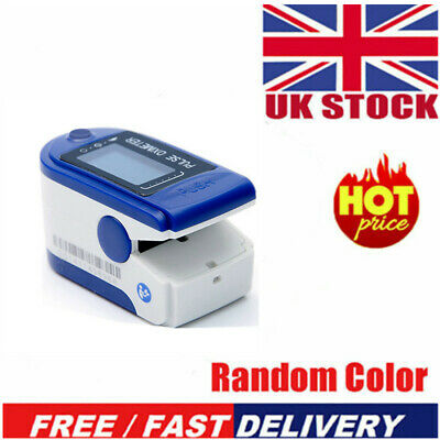 Fingertip Finger Pulse Oxygen Saturation Monitor Blood Oximeter Pressure MeterUK