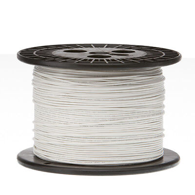20 Awg Gauge Solid Hook Up Wire White 1000 Ft 0.0320 Ul1007 300 Volts