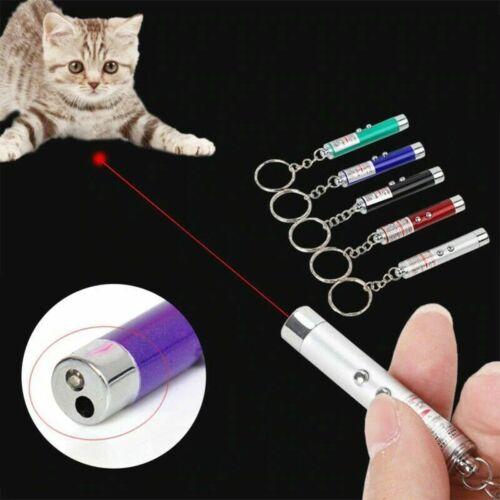 Laser pointer Red Dot Light beam Toy Teaser Pen Flash pet cat dog presentation
