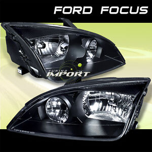 2005 2007 ford focus zx4 zx3 ses st black clear headlamps head lights assembly ebay. Black Bedroom Furniture Sets. Home Design Ideas