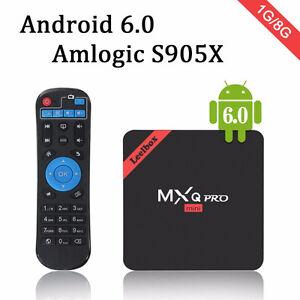 2017 Leelbox MXQ Pro MINI Android TV Box + Remote + Keyboard