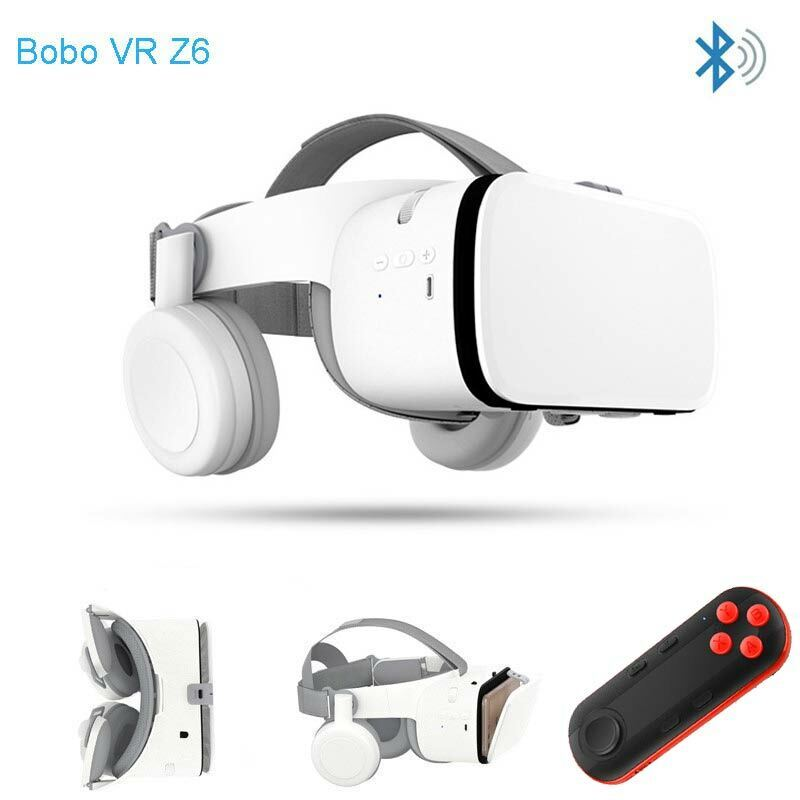 NEW 3D VR Headset Virtual Reality Goggles Bluetooth Remote Controller For iPhone