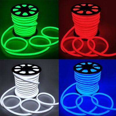LED Flex Neon Rope Light Xmas Holiday Party Home Outdoor Decoration 110v 150FT Light Xmas Ornament