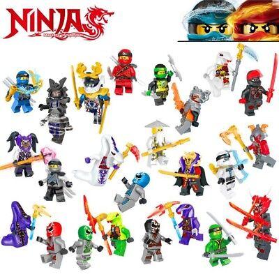 24Pcs Ninjago Mini Figures Kai Jay Sensei Wu Master Building Blocks Fit Lego Toy