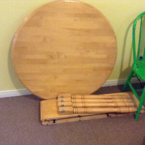 Solid Birch Talbe and 4 chairs