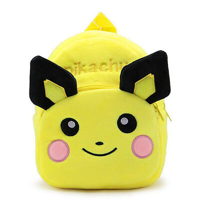 Baby Pikachu Backpack Plush Cute Cartoon Animal Bag Children Kids School Bags