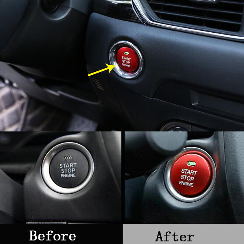Red Engine Start Stop Push Button Cover Trim for Mazda CX-5 CX5 2012-2018