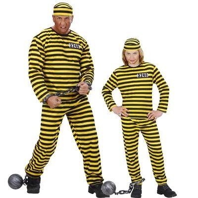 Kinder Western Kostüm (Herren und Kinder Kostüm Western Sträfling Sträflingskostüm - Daltons - Häftling)