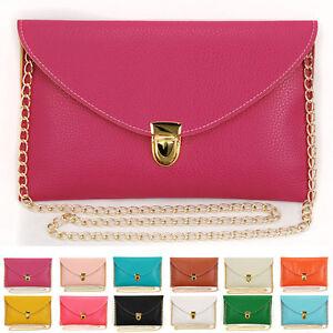 Womens-Envelope-Clutch-Chain-Purse-Lady-Handbag-Tote-Shoulder-Hand-Bag