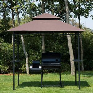 8'x5' BBQ Gazebo Tent Pavilion Grill Canopy Shade