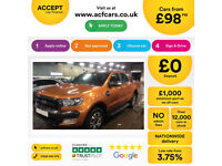 Pride Orange Ford Ranger 3.2TDCi 4x4 auto Wildtrak Double Cab FROM £98 PER WEEK!