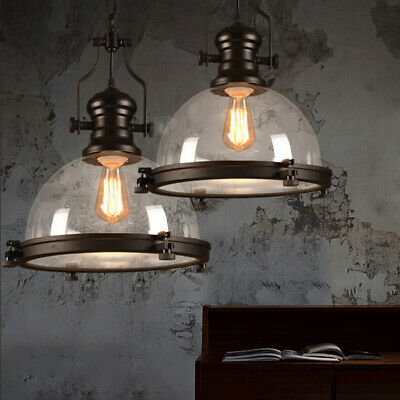 Retor Clear Glass Dome Pendant Light for Kitchen Island Dining Table