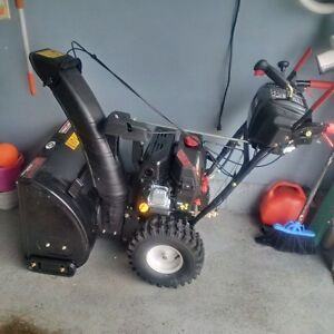 """Craftsman 24"""" snow thrower - barely used"""
